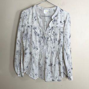 Maeve floral print blouse